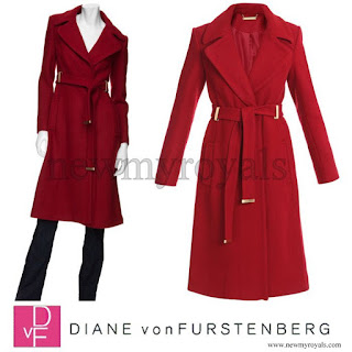 Crown Princess Mary Style DIANE von FURSTENBERG Mikhaila Long Coat