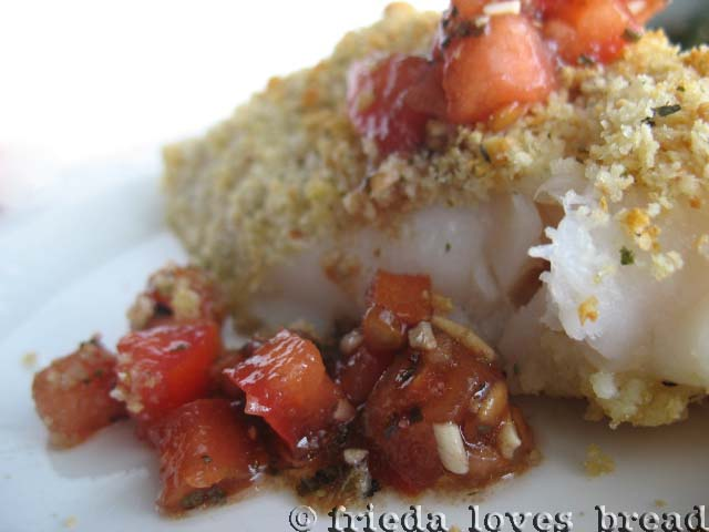 Broiled Fish With Summer Grape Tomato Sauce Recipes — Dishmaps