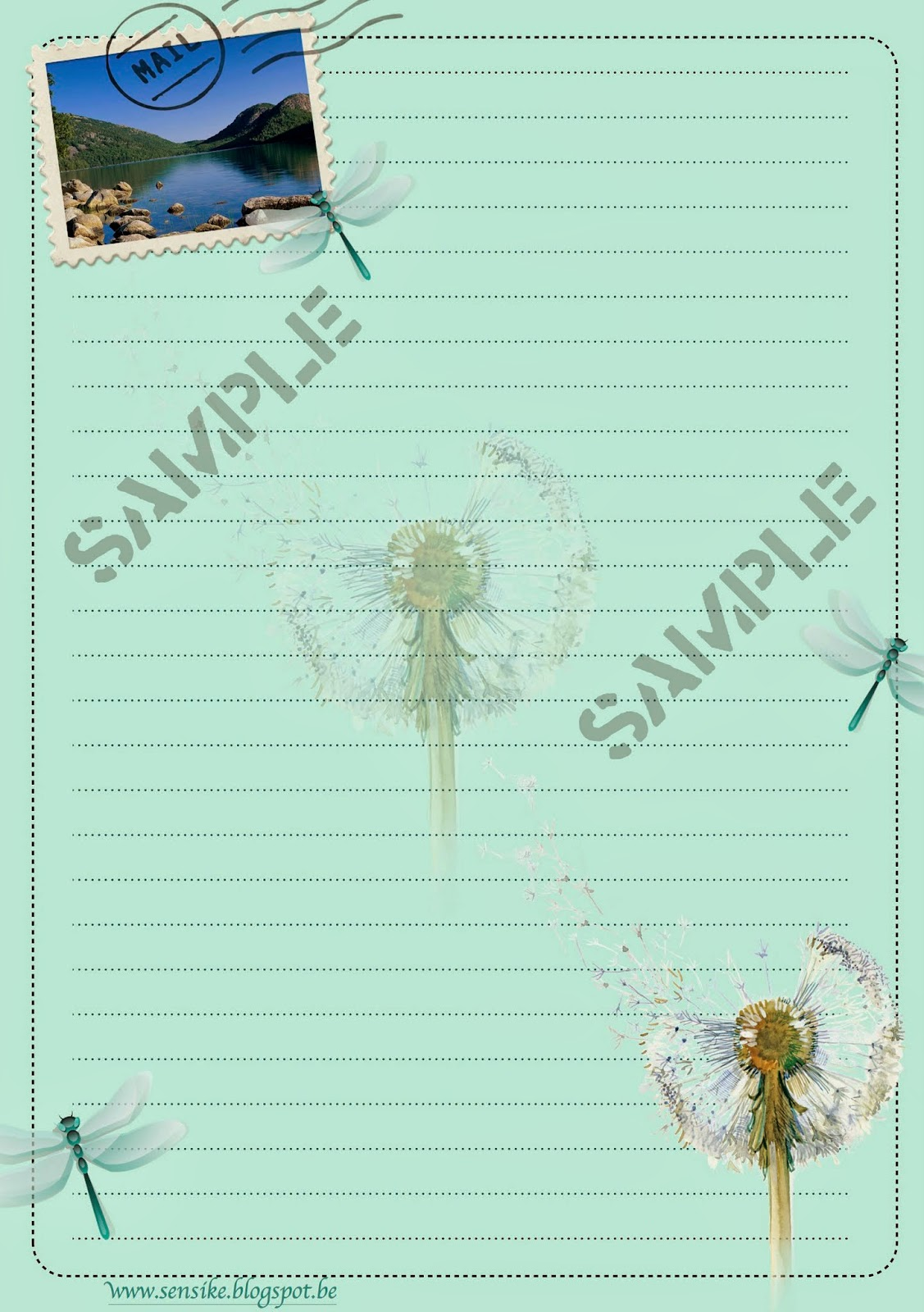 briefpapier dragonfly, stationery