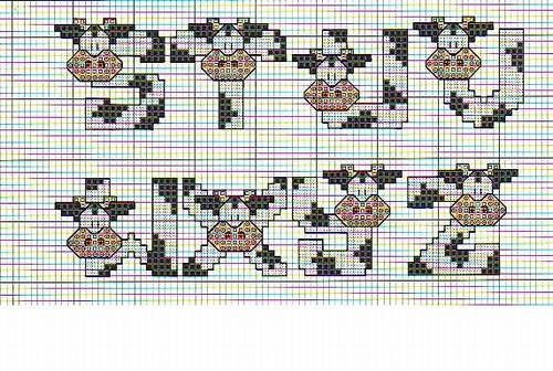Alfabeto vaca en punto de cruz labores punto de cruz - Labores en punto de cruz ...