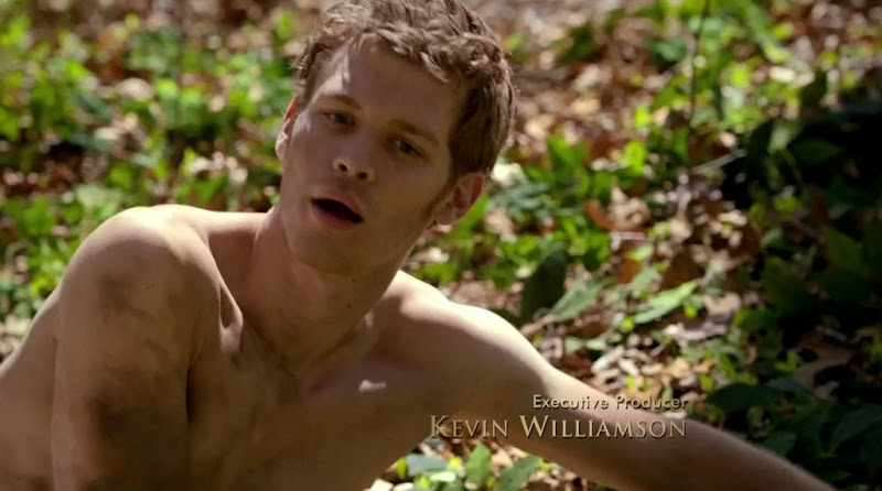 Joseph Morgan Shirtless on The Vampire Diaries s2e22