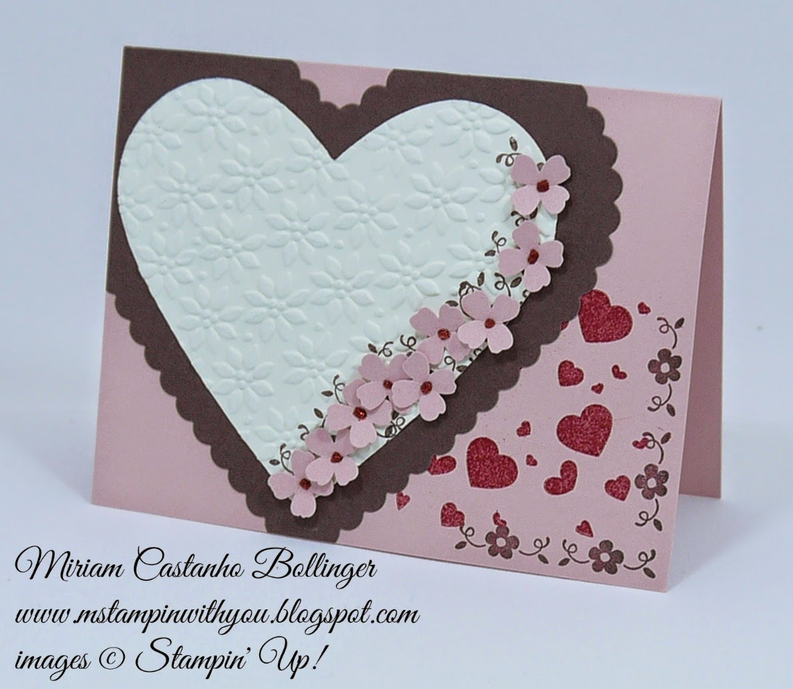Miriam Castanho Bollinger, #mstampinwihtyou, stampin up, demonstrator, dsc 116, valentine's card, heat embossing, simply wonderful sab stamp set, perpetual birthday calendar, big shot, hearts collection, itty bitty accents punch, su