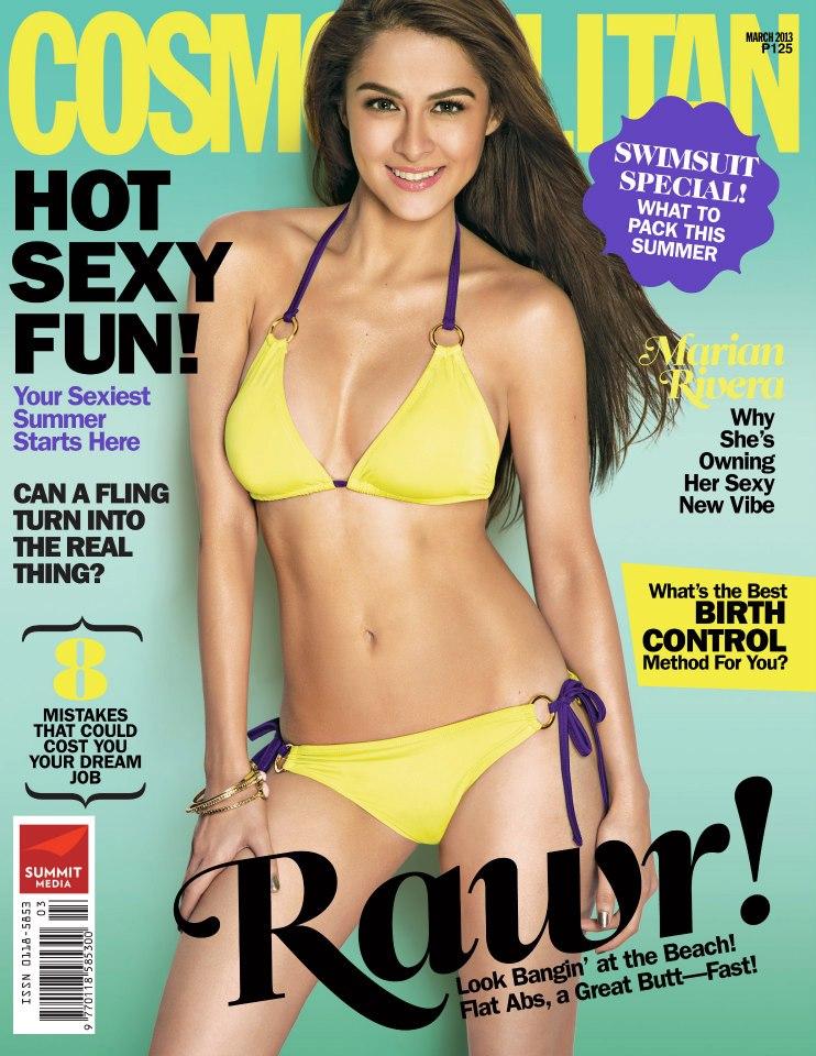Actress Marian Rivera poses in bikini for magazine cover