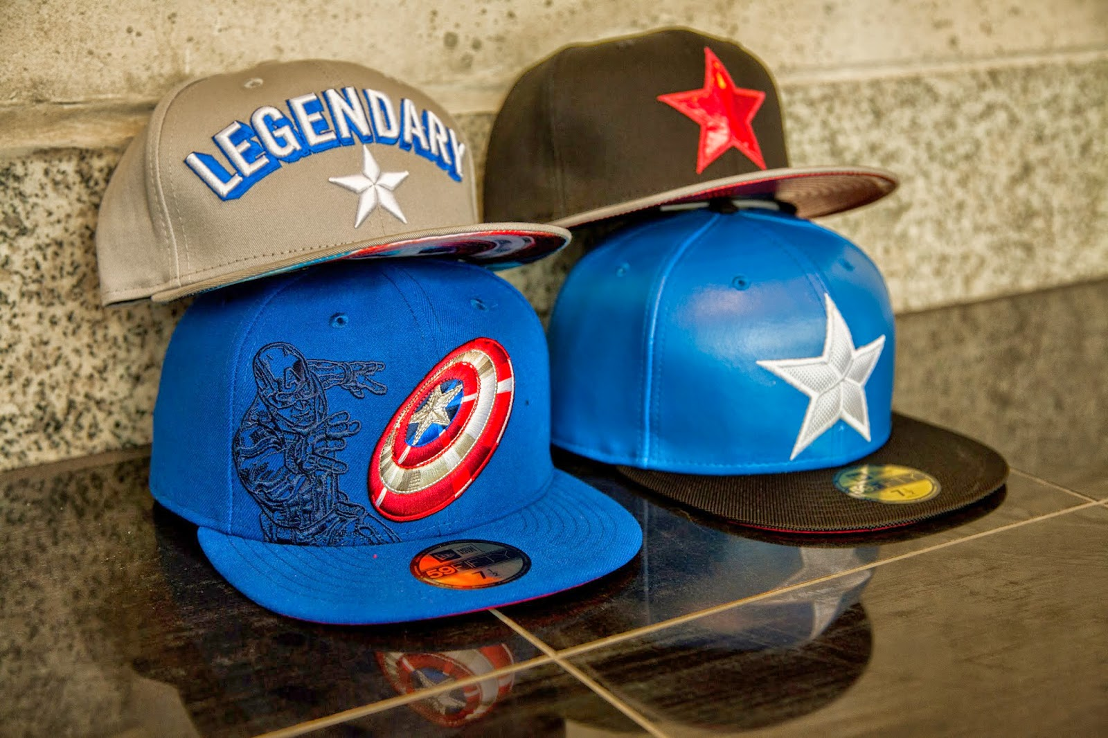 Marvel X New Era Captain America The Winter Soldier Hat Collection