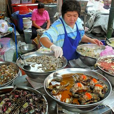 Garküche in Yaowarat Bangkok