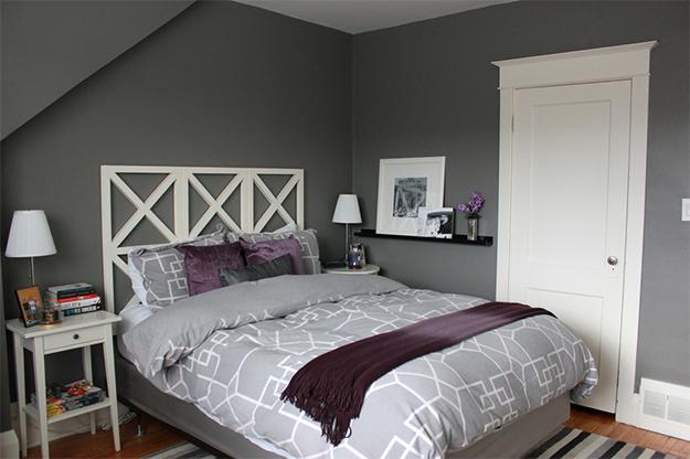 Preto, cinza e roxo na decoração do quarto Casinha Arrumada ~ Quarto Preto Cinza E Vermelho