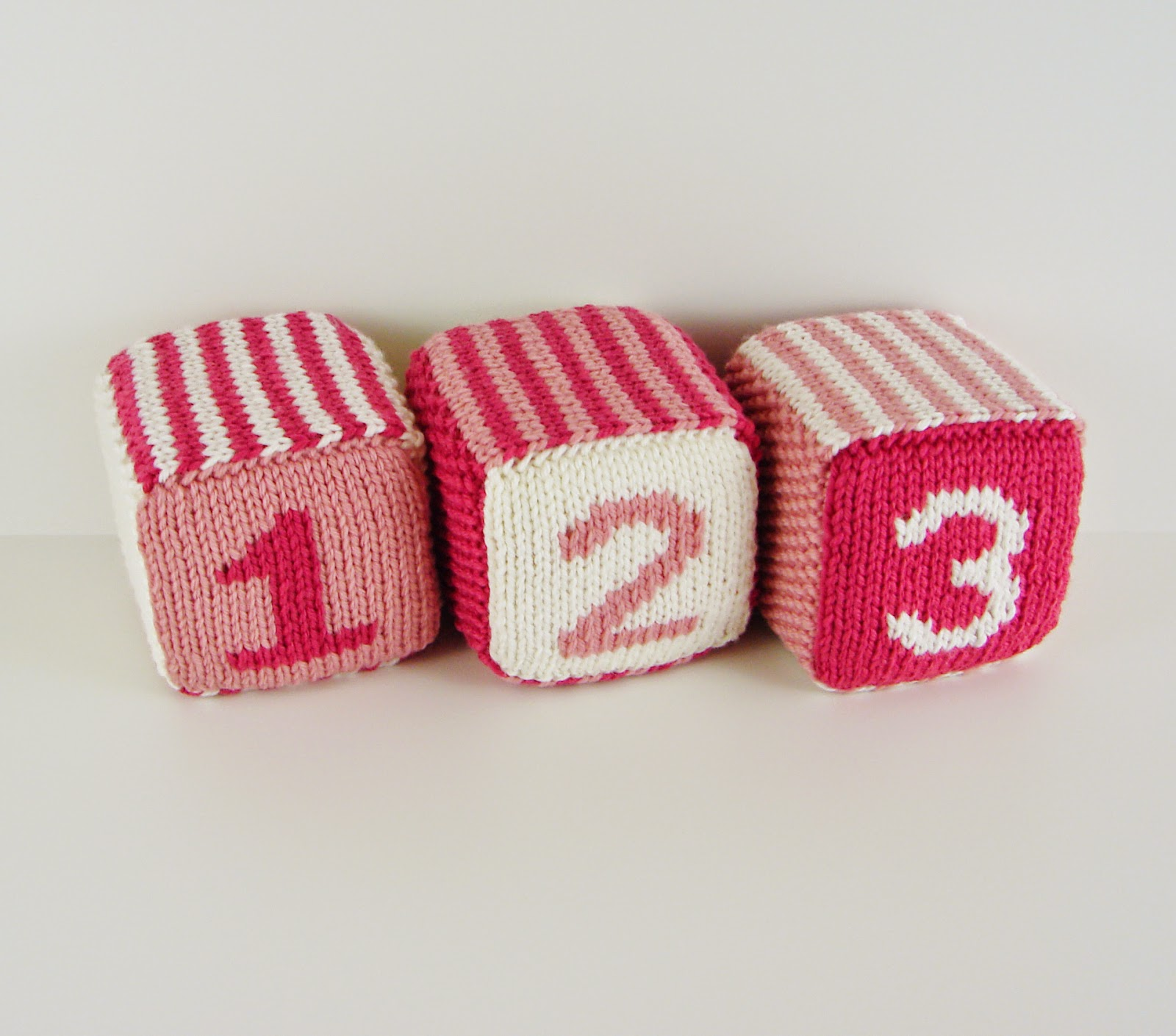 knit, blocks, foam, toys, hand knit, letter, number, striped, white, pink
