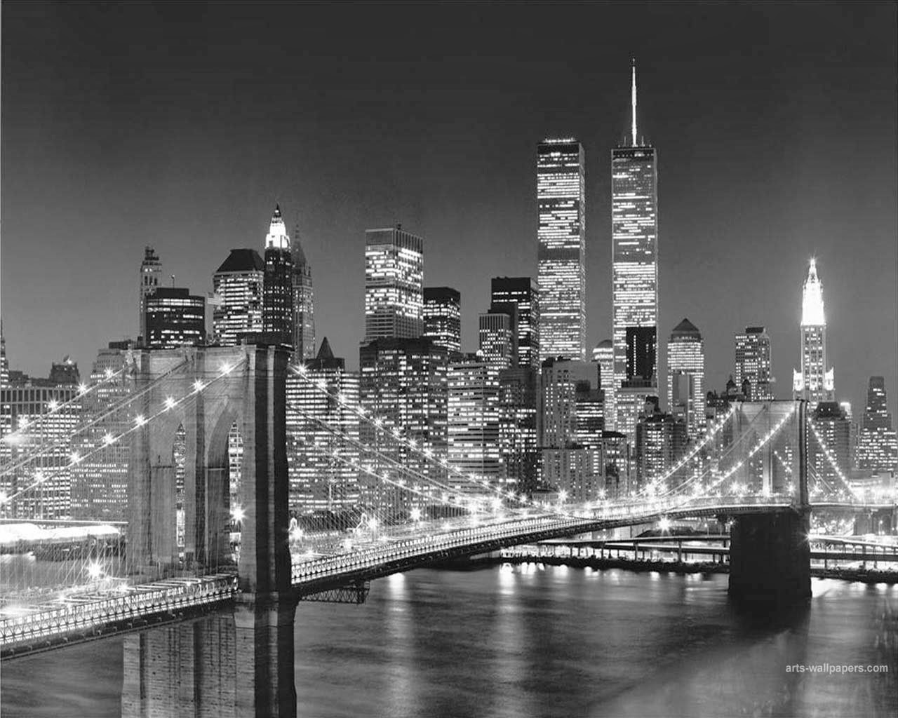 New york city black and white free desktop wallpapers for Black and white new york mural wallpaper