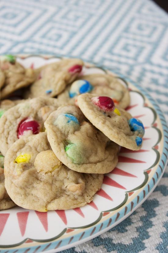 Loaded Peanut Butter and M&M Cookies    sosweetlikesarah.com