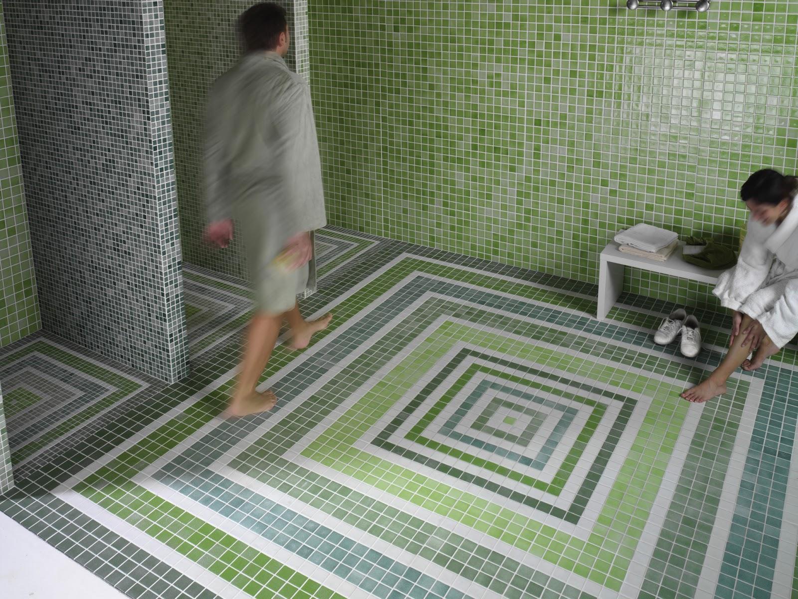Decoracional mosaico v treo - Suelos para duchas ...