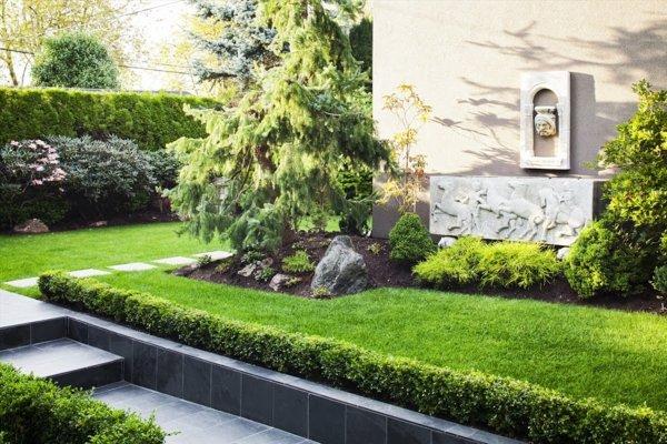 Moderna casa con obras de arte decorar tu casa es - Jardines casas modernas ...