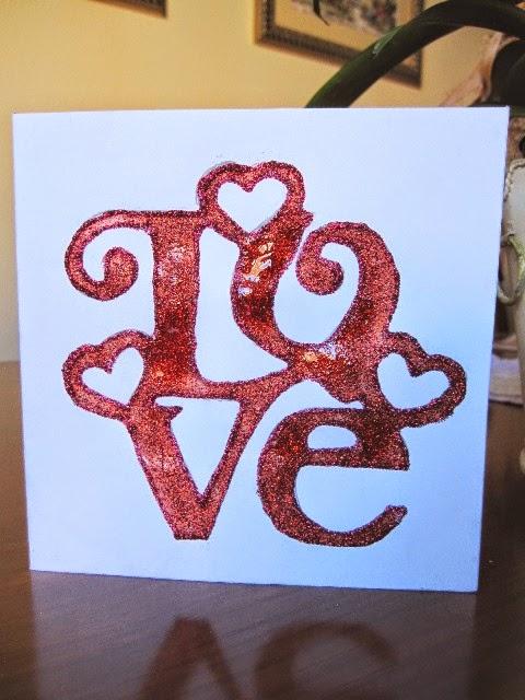 Tarjeta LOVE de San Valentín scrapbooking