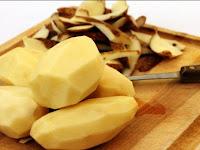 Ajaib Rambut beruban jadi hitam dalam hitungan menit hanya dengan menggunakan kulit kentang, Begini caranya