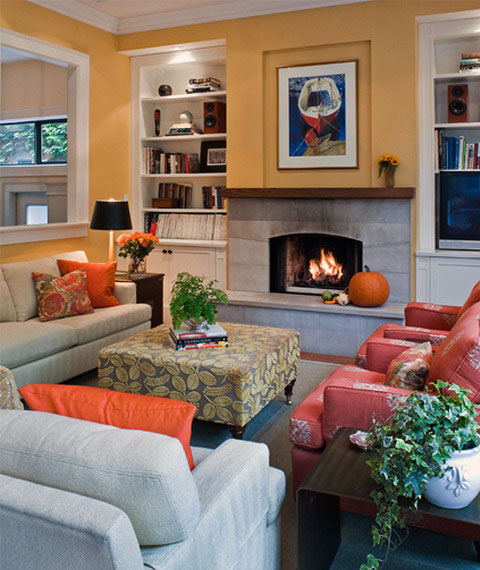 orange and grey living room ideas. Black Bedroom Furniture Sets. Home Design Ideas