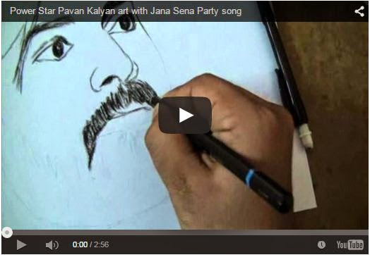 Power Star Pavan Kalyan art with Jana Sena Party song