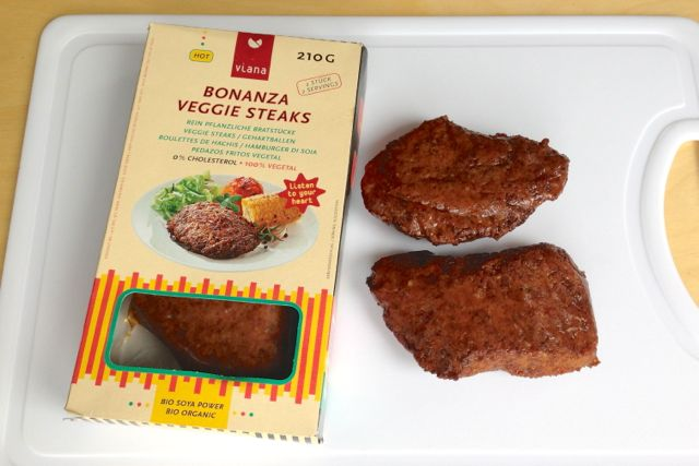 Viana Bonanza Veggie Steaks are vegan