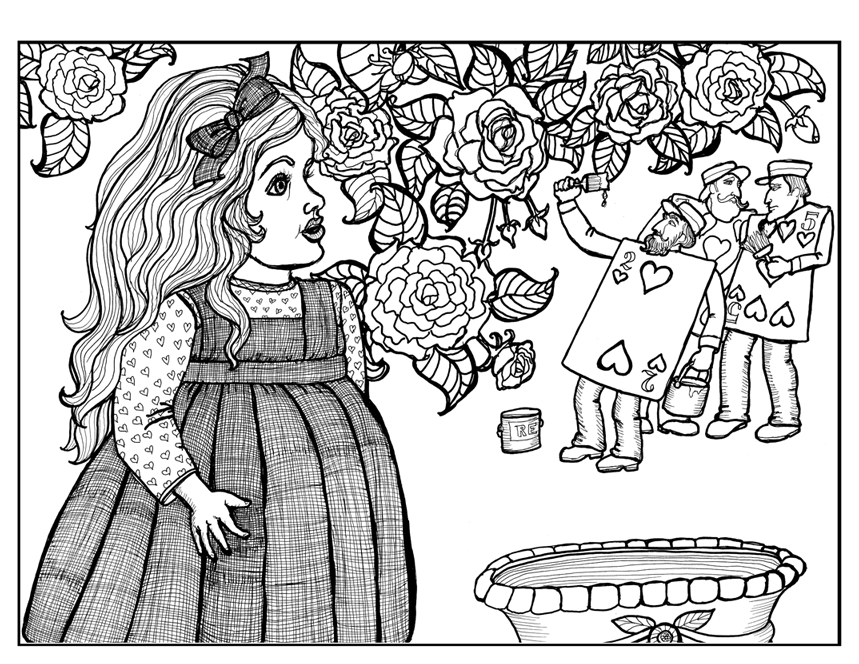 Alice, A Coloring Books for Adults