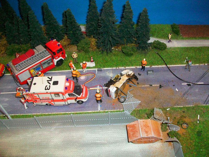 dioramas d 39 interventions de pompiers au 1 87 dioramas et. Black Bedroom Furniture Sets. Home Design Ideas