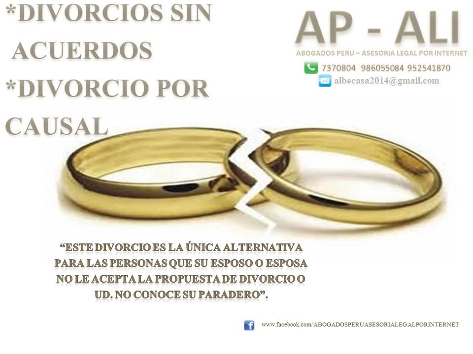 DIVORCIO SIN ACUERDO, POR CAUSAL.