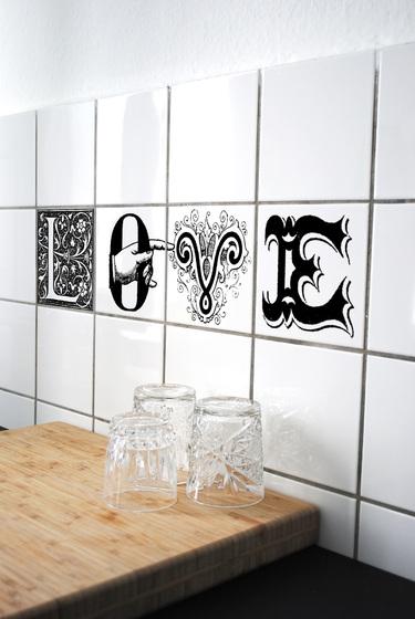 Alucinantes adhesivos para decorar azulejos ministry of deco - Pegatinas para cocina ...