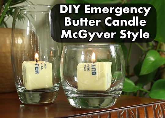 DIY Emergency Butter Candle