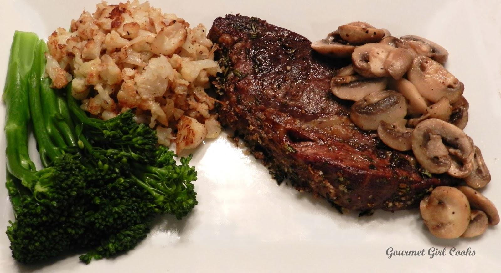 Gourmet Girl Cooks: Herb Crusted Boneless Rib Eye Roast