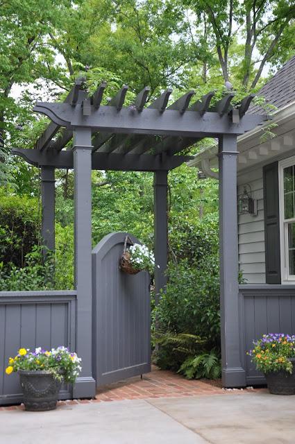 gate with pergola