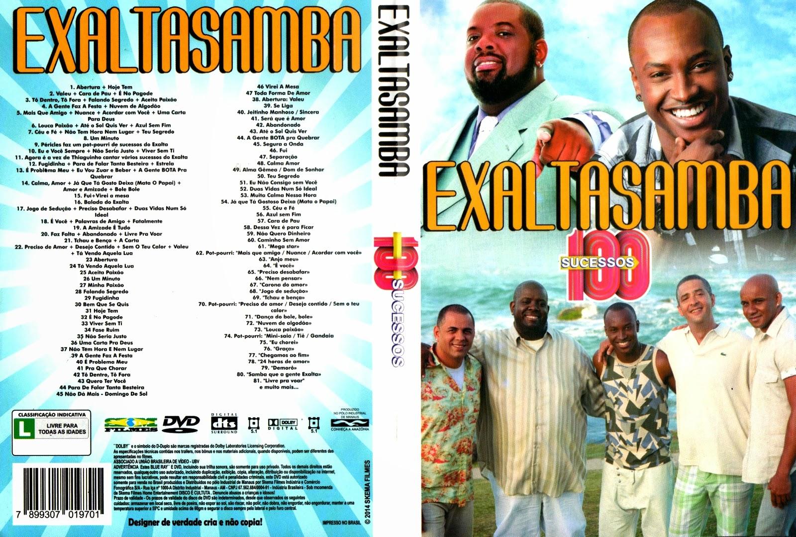CAPAS X FILMES: EXALTA SAMBA 100 SUCESSOS