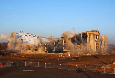 12/15/02: The implosion of Capital Centre makes way for a shopping center