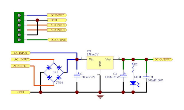 Electronic Circuit Power Supply Module Acdc In 5v Out Based On