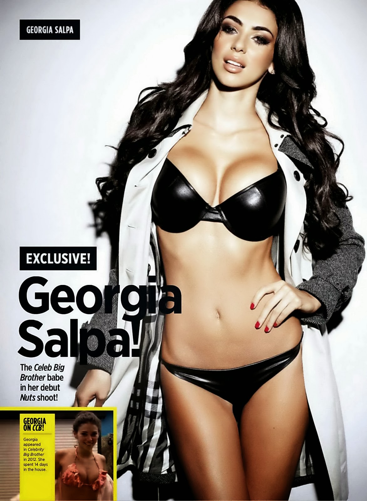 "Georgia Salpa ""The Celeb Big Brother Babe in Her Debut Nuts Shoot!"""