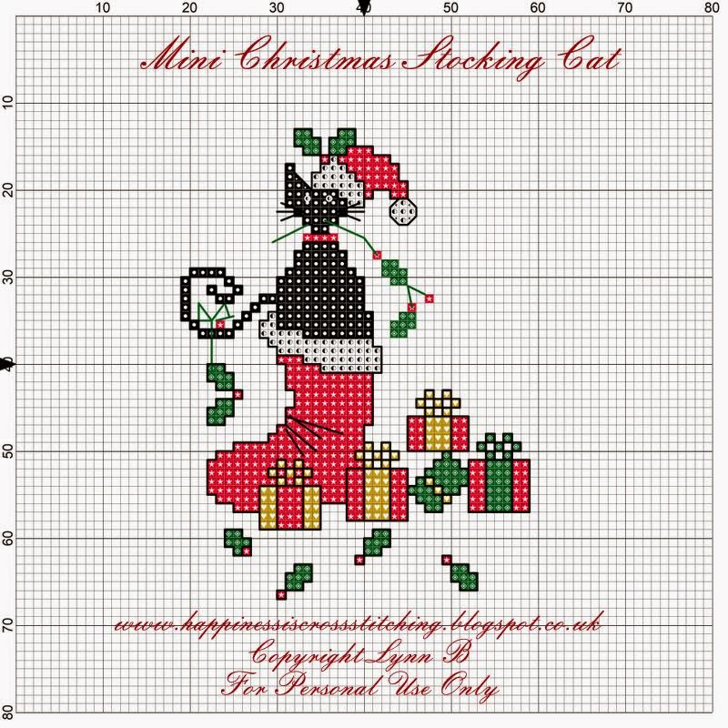 Happiness is Cross Stitching : Freebie friday - Mini Cat in ...