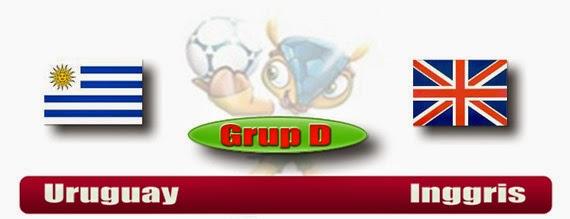 PREVIEW Pertandingan Uruguay vs Inggris 20 Juni 2014 Dini Hari