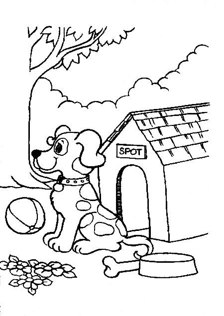 desenho de cachorrinho em sua casinha desenhos para colorir