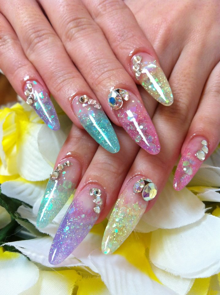 ♥Cute Nail Designs♥: Colorful Translucent Nails by Ayano