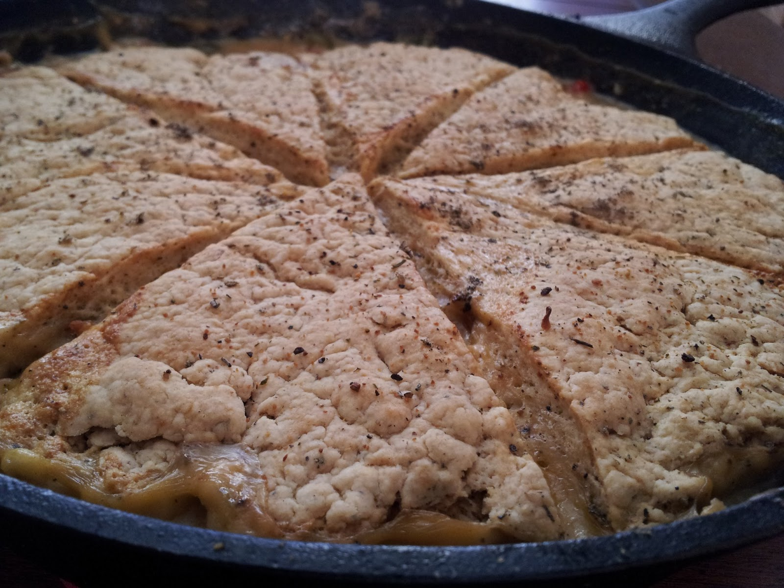 Add The Chicken Veggies And Lemon Juice Transfer To A 2 5 Quart Baking Dish Unless You Are Using A Cast Iron Skillet Top With Sage Biscuits And Bake