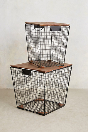 Anthropologie wire baskets