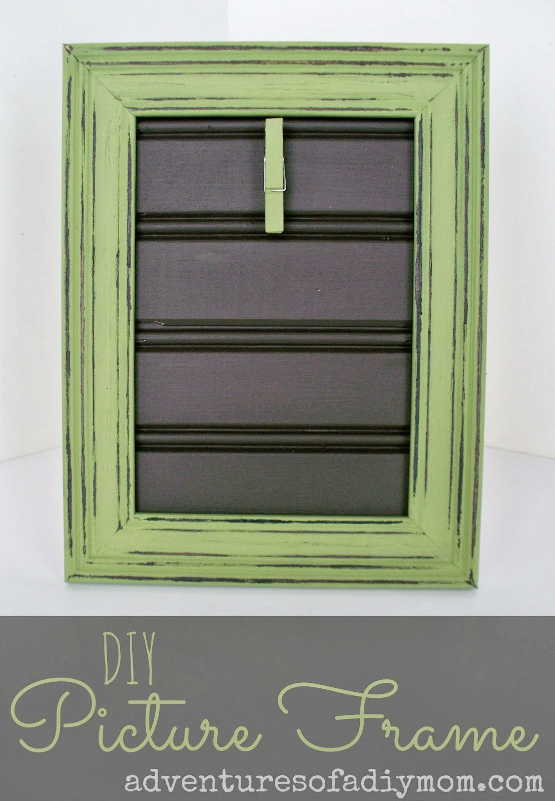 DIY Clothespin Picture Frame by Adventures of a DIY Mom
