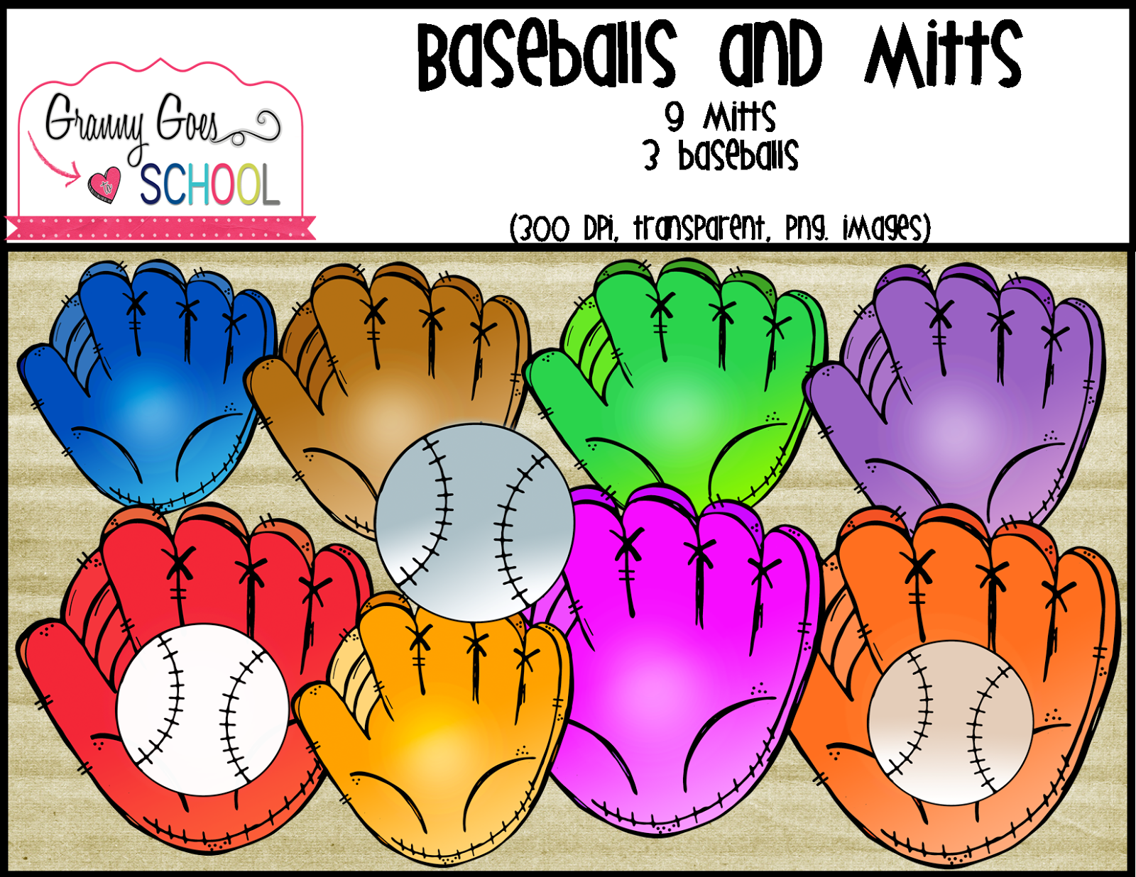 http://www.teacherspayteachers.com/Product/Baseballs-and-Mitts-Clip-Art-1499099