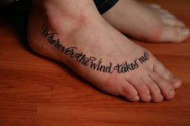 Foot font tattoo design