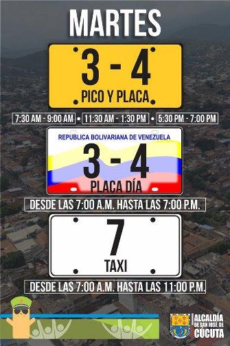 Pico y Placa en Cúcuta