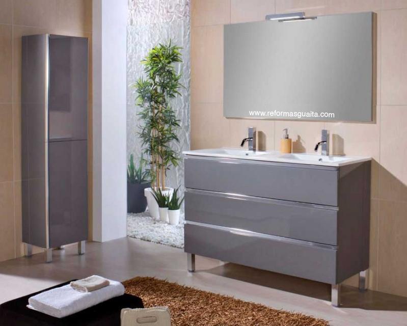 Lavabos Dobles Para Baño:Mueble de baño MABÖ120 de doble seno (2 lavabos) ~ Reformas Guaita