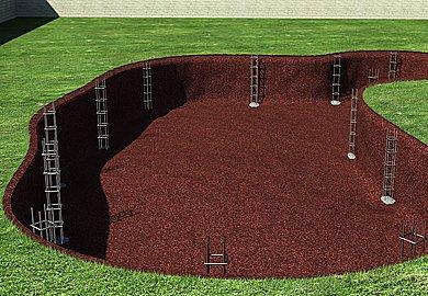 Apos escolher o local desejado e feito a escavação da piscina a profundidade varia de acordo com cada projeto.