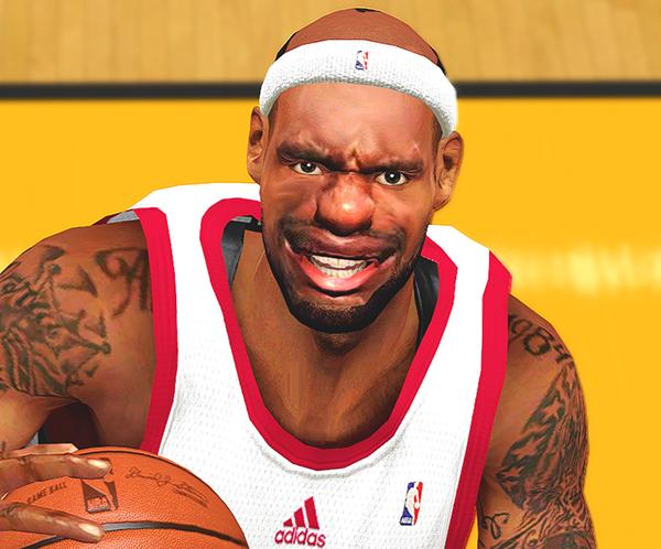 NBA 2K14 Funny LeBron James Face & Hairline Mod