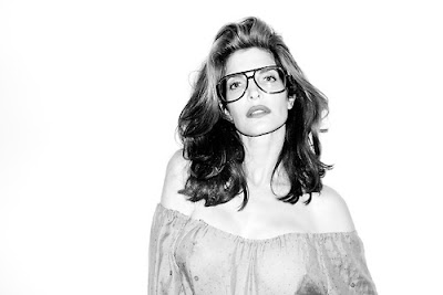 Stephanie Seymour by Terry Richardson wearing glasses