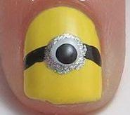 Cute Minions Nails.