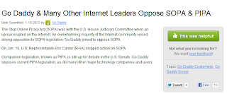 GoDaddy Stop Online Piracy Act