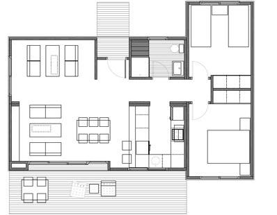 Plano de casa de madera prefabricada 71 m2 planos de - Planos casa madera ...
