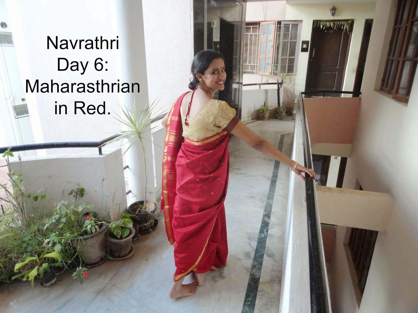Navrathri Day 6: Lets paint the town Red, the Maharasthrian way. image