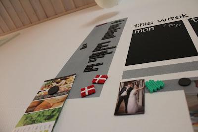 madplan kalender opslagstavle magnetmaling selvklæbende tavlefolie family planner wall
